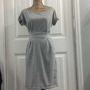 Dresses & Skirts - Grey heather cotton dress size L NWT